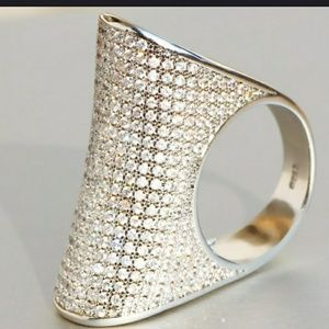 .925 Sterling Silver Oversized Ring